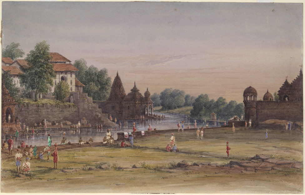 Ghats and temples, probably at Nasik 1449